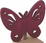 1 wooden butterfly laser-cut dark pink, h 6 cm