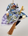 Bibi Larsen large Easter witch lila of Sweden, h 9 cm