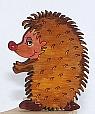 wooden hedgehog laser-cut for candlerings, h 5 cm