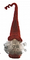 Åsas Tomtebod swedish felt Tomte Alfred with felt cap red, h 25 cm