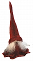 Åsas Tomtebod swedish felt Tomte Tova with felt cap red, h 25 cm