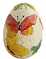 1 wooden Easter egg yellow with butterflies, for candlerings