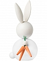 Aarikka bunny Pupujussi with 3 carrots, white