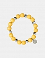 Aarikka Minttu bracelet yellow, diameter 5 cm