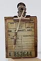 Vintage clipboard, height 7 cm, brown