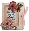Vintage jewel case with 3D theme Mothers Day,  9,5 x 7,5 x 2,5 cm