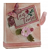 Vintage jewel case with 3D theme Tea Time,  9,5 x 7,5 x 2,5 cm