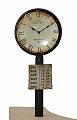 Vintage old railway station clock, height 8 cm, black