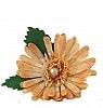 1 Holzstecker Chrysantheme orange ohne Stengel, h 6 cm