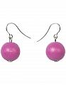 Aarikka KARPALO earrings pink, Length 1,5 cm
