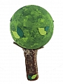 wooden tree 3D with leaves, lightgreen, h 11 cm