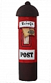 Vintage old letterbox, height 8 cm, red