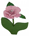 1 rose pink, for candlerings, h 11 cm (copy)