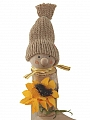 Autumn birch man withsun flower, h 12 cm