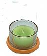 Tealight holder orange with glass