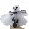 Halloween - ghost with an iron bowl, for candlerings, h 7 cm