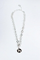 swedish necklace Nordic Dalahorse crystal silver, 45 cm