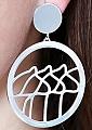 swedish earrings  big pendant Dalahorses silver, d 4 cm