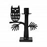 Bengt & Lotta OWL candle holder, black, h 18 cm