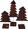 Sebastian design 3 wooden firs dark brown