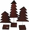 Sebastian design 3 wooden firs dark brown