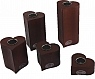 Sebastian design tea light holder set  set hearts, 5-part, dark brown