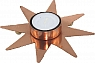 1 swedish tealight holder star, copper, d 13 cm