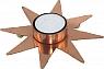 1 swedish tealight holder star, copper, d 13 cm