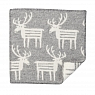 Swedish seat pad RENDEER, wooven lamb wool, light grey, 43x43 cm