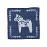 Swedish seat pad SWEDISH HORSE, wooven lamb wool, blue, 43x43 cm