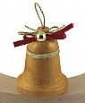wooden bell gold for candlerings, h 5 cm