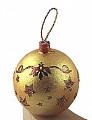 Christmas bauble gold for candlerings, h 6 cm
