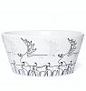 small swedish bowl Reindeer, 12x5 cm, white