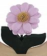 1 big flower light pink, for candlerings, h 11 cm
