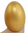 1 wooden Easter egg gold metallic for candlerings