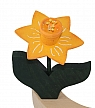 Wooden Narcissus, yellow, h 9,5 cm