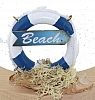 the lifebelt blue with beach sign, h 6 cm