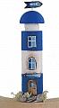 Old wooden light house dark blue, h 14 cm (copy)