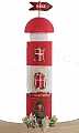 Old wooden light house red, h 14 cm (copy) (copy)