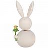 Aarikka bunny Neiti Pupujussi with flower, white, h 16 cm