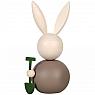 Aarikka big bunny Maalaispupujussi with spade brown, h 16 cm