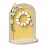 Aarikka Easter door yellow, decorated, h 16 cm