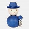 Aarikka SAARRISTLAINEN figure de Finlande bleu, h 8 cm