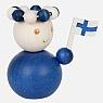 Aarikka SUOMINETO figure de Finlande bleu, h 7 cm