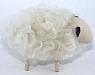 1 wood plug big wool sheep, white