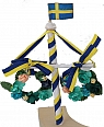 Big Midsommar-tree with Swedish flag, h 13 cm
