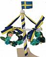 1 abre de Midsommar avec du drapeau de Suède, h 13 cm