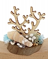 Under water world - sea shell, coral, hight 4,5 cm