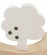Sebastian design wood plug tree, white, 9,5 cm