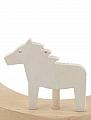 Sebastian design big wooden horse, white, h 6 cm